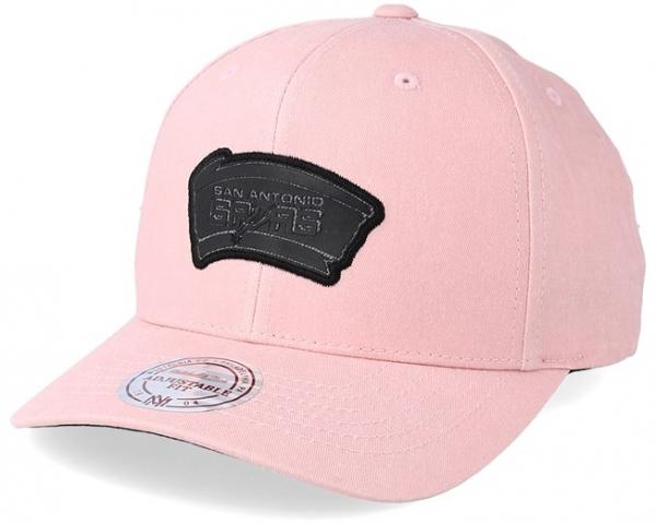 san_antonio_spurs_hwc_washed_heather_pink_adjustable_mitchell_ness_vorne.jpg